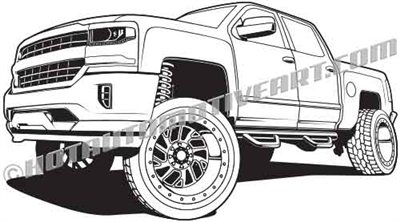 2015 chevy silverado pickup clip art