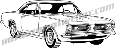 1968 plymouth barracuda notchback clip art