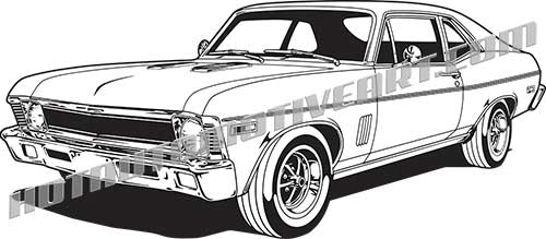1969 chevy nova ss clip art, buy two images, get one image