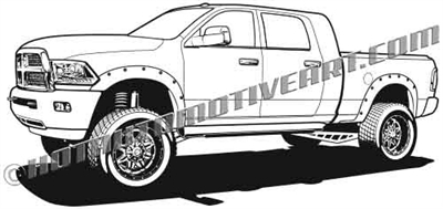Dodge Ram off road 4x4 truck clip art