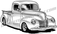 1940 ford truck clip art 3/4 view