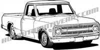 1969 Chevy pickup clip art