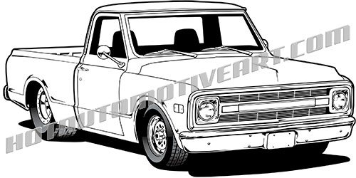 69 chevy truck clipart  buy two images  get one image free
