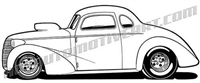 1937 chevy hot rod clip art side view