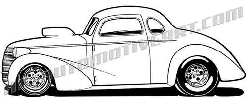 1937 chevy hot rod clipart  buy two images  get one image free