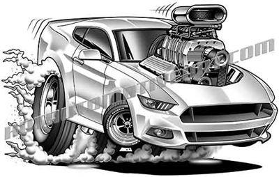 2017 ford mustang gt cartoon clip art