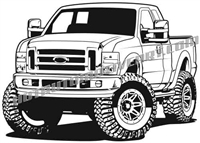 2010 ford F-250 4x4 pickup truck clip art