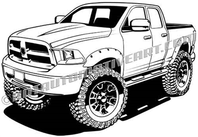 Dodge off road truck cartoon clip art
