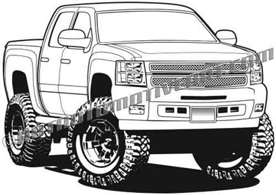 2012 Chevy silverado pickup clip art
