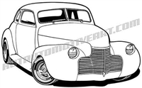 1940 Chevrolet hod rod clip art