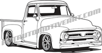 1953 ford truck clip art 3/4 view