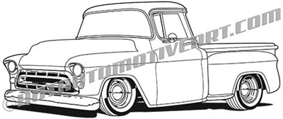 1957 Chevrolet pickup clip art