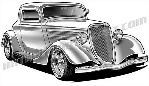 34 ford hot rod clipart, buy two images, get one image free