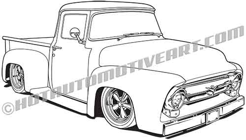 1956 ford custom pickup truck buy two images get an additional 1960 Dodge Truck alternative views