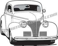 1939 chevy hot rod clip art front 3/4 view