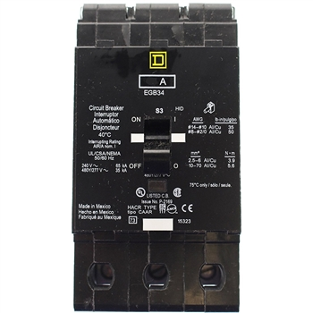 Square-D SQD EGB34015 Circuit Breaker Refurbished