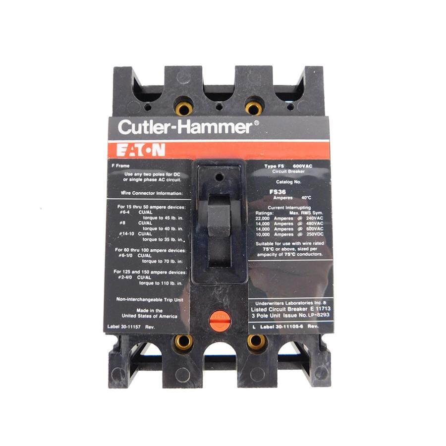 Eaton FS FS360060A 3 Pole 60 Amp 600V Circuit Breaker FS360060