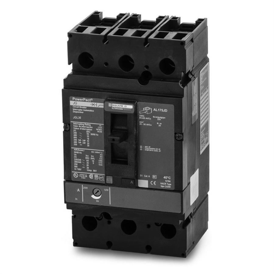 SQUARE D JGL36225 225 Amp 600 volt PowerPact Circuit Breaker