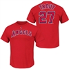 Los Angeles Angels of Anaheim Mike Trout Player Name & Number T-Shirt by Majestic