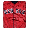 Boston Red Sox 50x60 inch Royal Plush Raschel Throw Blanket - Jersey Design
