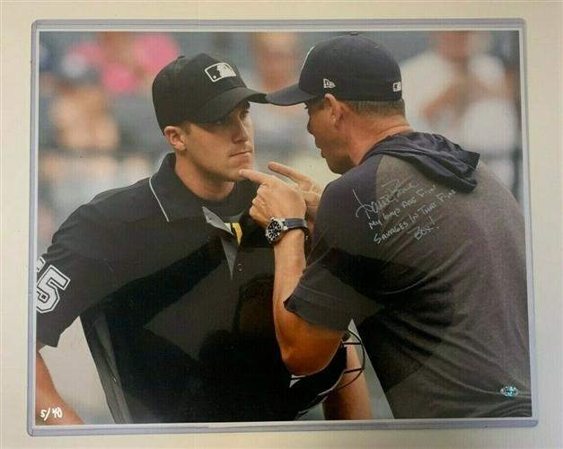 Aaron Boone Signed 16x20 Photograph With Inscription