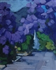 """Sierra Madre Jacarandas"" Oil Painting by Sarah Arnold"