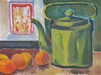 """Still Life with Green Teapot"""