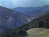 """The Moonlit Hills"", California Landscape Oil Painting by Armand Cabrera"