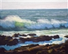 """Windspray"", California Seascape Oil Painting by Armand Cabrera"
