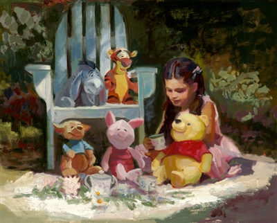 """Garden Tea Party"", C.M. Cooper Giclee on Canvas"