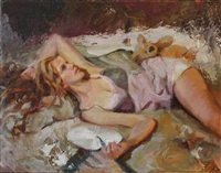 """Entangled"", Figurative Oil Painting by C.M. Cooper"
