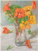 """Bright Bouquet"",  Still Life Oil Painting by E.E. Jacks"