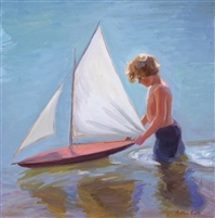 Egeli.Boy&SailboatPainting