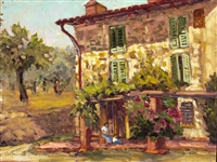 """Tuscany Farm"" Ellie Freudenstein Oil Painting"