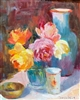 """Fresh Blooms"", Still Life Oil Painting by Jennifer Hurley"
