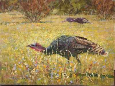 """Wild Turkey"", Frank LaLumia Oil Painting"