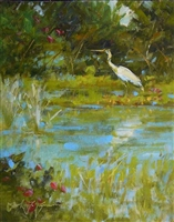 """Blue Heron"", Frank LaLumia Oil Painting"