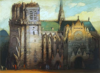 "Richard Bunkall (1953-1999) limited edition fine art architectural giclee entitled ""Cathedral"", pencil signed and numbered"