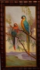 Two Parrots Decorative Vintage Oil Painting