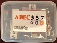 10P-SMR103C-2OS/P58 A7 LD, (3X10X4 mm), ABEC357, Ceramic Hybrid ABEC 7 Orange Seal Bearings. The inner and outer rings / retainer are made from stainless steel, grade 5 solid Ceramic Si3N4 balls which do not corrode, Light contact rubber seal, ABEC #7.