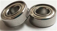 10P-SMR128C-ZZ/P58 A7 LD, ABEC357, Metric, Radial Bearings, (8x12x3.5 mm), Ceramic Hybrid ABEC 7 Metal shielded Bearings, Stainless Steel rings/retainer, Ceramic Si3N4 balls, Removable Metal shields, lube dry, ABEC 7, BNT2170, BNT2192, BNT3621, BNT3927.