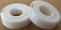 6204-LL/T9/C3 LD ZRO2, (20x47x14 MM), Full Ceramic, Zirconia ZrO2 Inner/Outer/Balls, PTFE Retainer, PTFE Seals, C3 Fit, Lube Dry, ABEC#1.