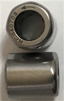 8x12x12 mm, HF0812 KF R, One Way Bearing, Drawn cup roller clutch, Plastic Springs, Knurled, ABEC357.