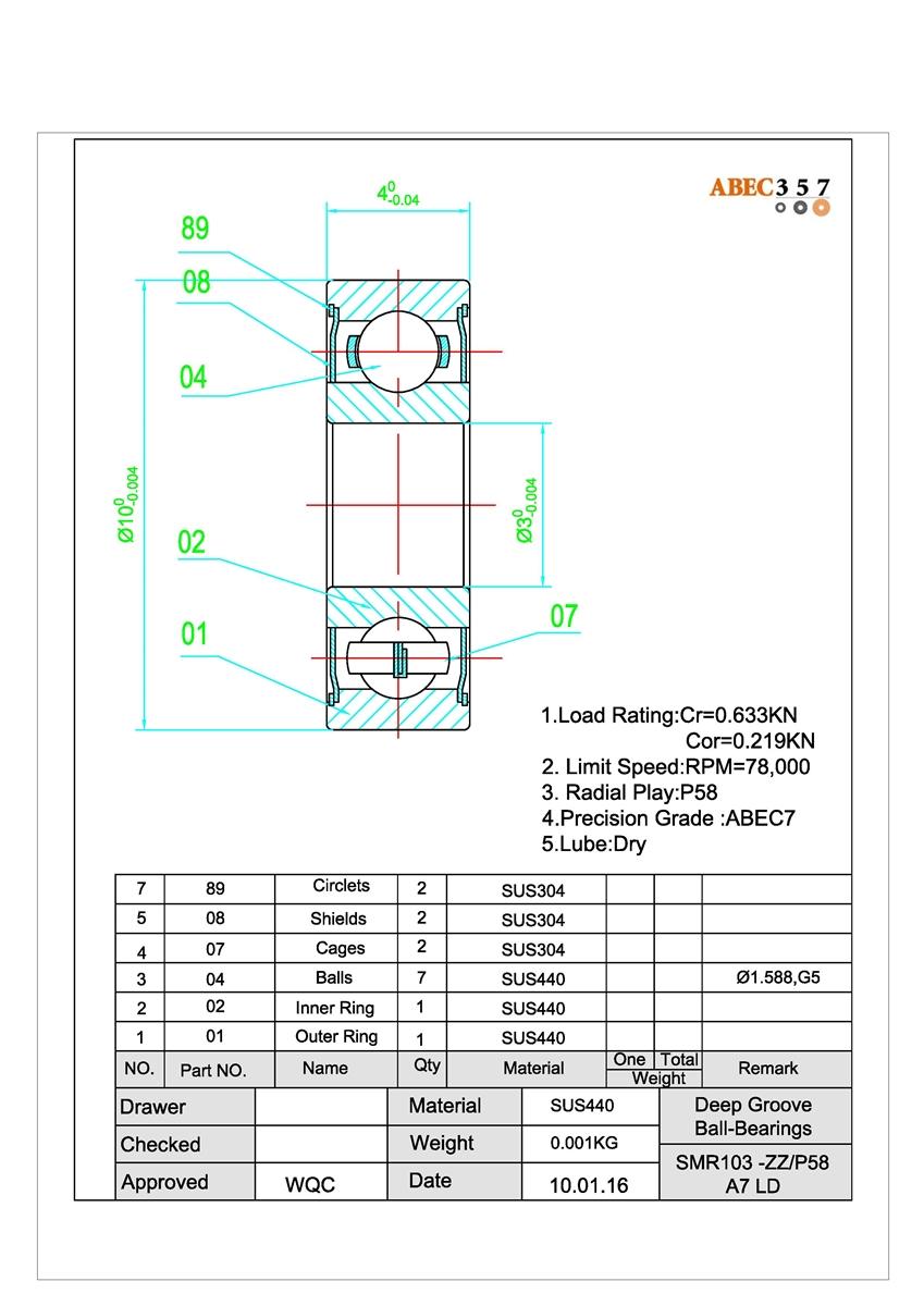 #3 ABU GARCIA ABEC-7 SPOOL SEE MODEL LIST STAINLESS STEEL BEARINGS