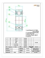 SMR106C-2OS A7 ABEC-7 HYBRID CERAMIC Orange Seal spool bearing 6x10x3