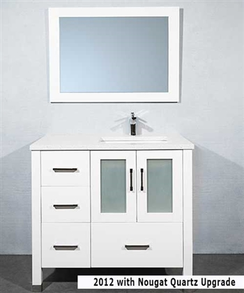 Modern Bathroom Vanities Port Moody modern 36 inch floating bath vanity - modernbathrooms.ca