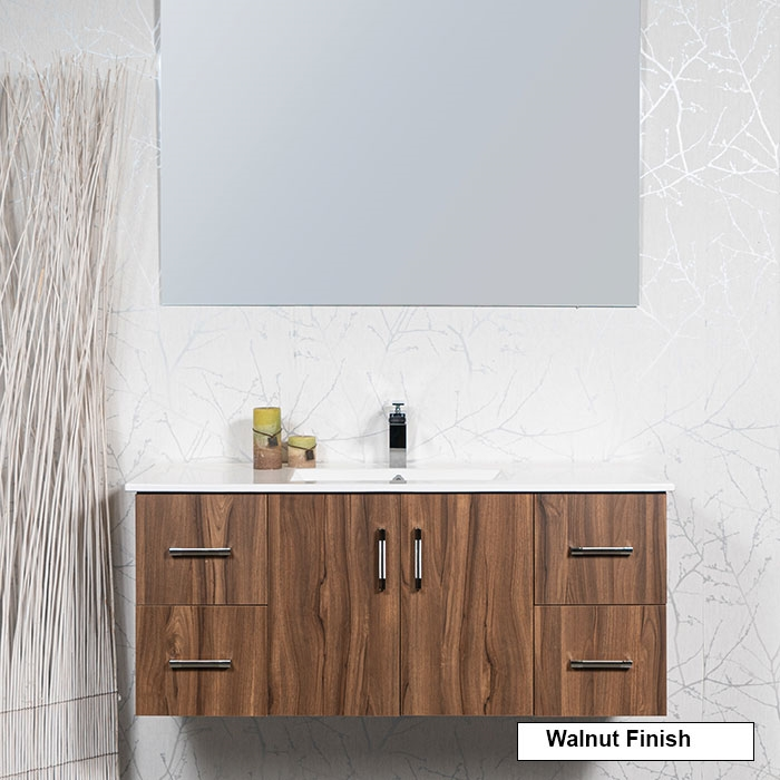 48 Inch Floating Vanity Style 2048 Shown In Chocolate Brown Larger Photo Email A Friend