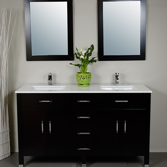 60 Inch Double Sink Vanity Style 3160 Larger Photo Email A Friend