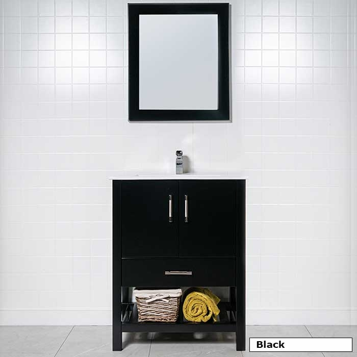 28 Vanity With Open Bottom Shelf Modernbathroomsca