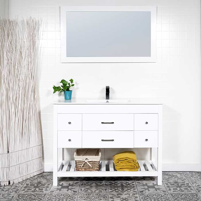 pretty bathroom vanities surrey bc. Larger Photo Email A Friend Stylish 48 vanity with integral sink  modernbathrooms ca